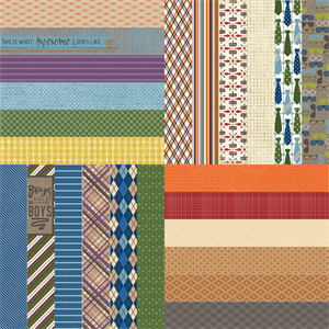 """Picture of All About Fall by Lauren Hinds 2"""" Border Strips: Great Guy - Set 12"""